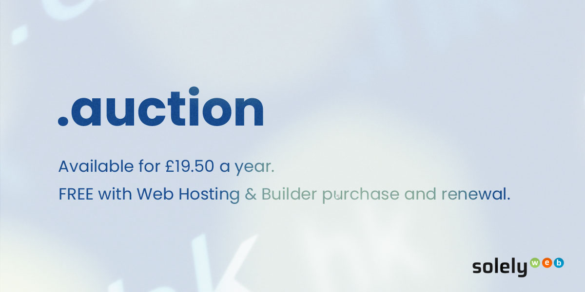 auction domain name extension