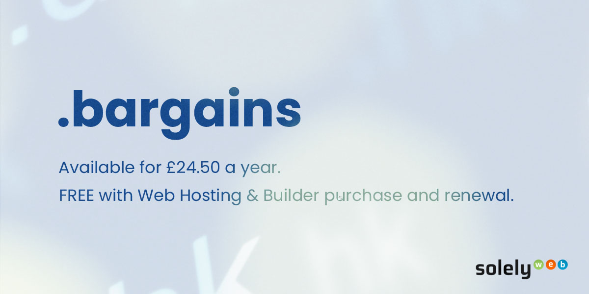 bargains domain name extension