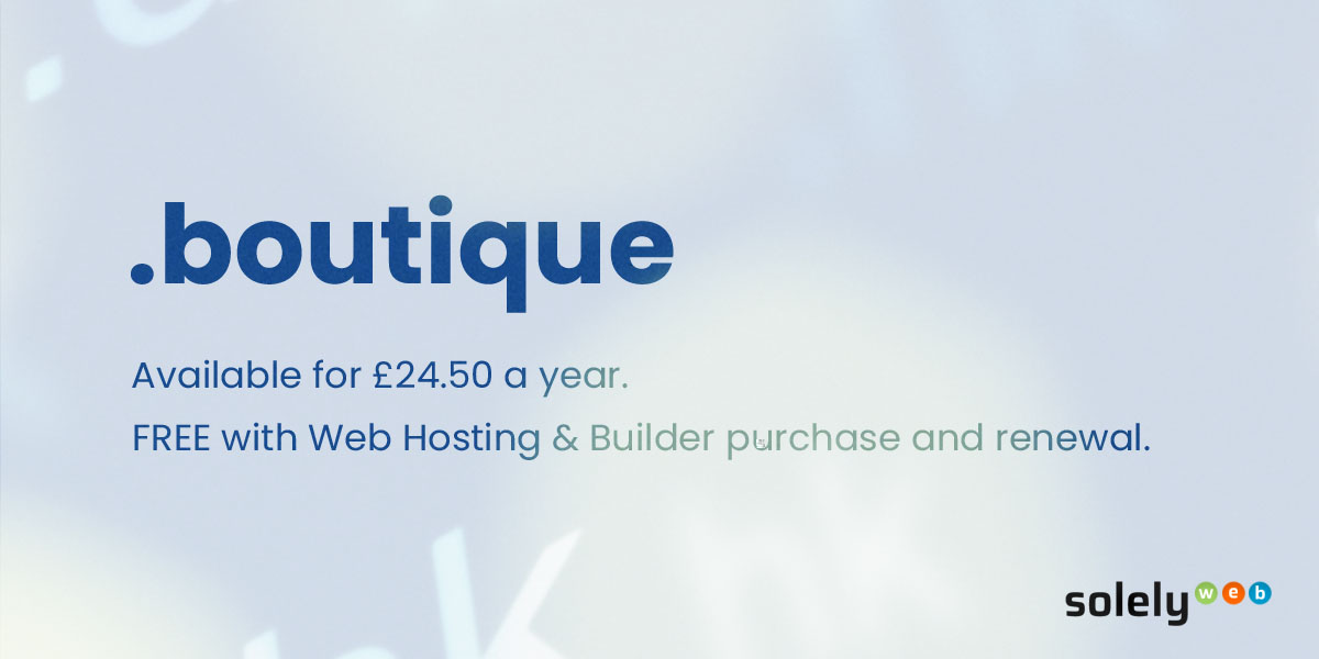 boutique domain name extension