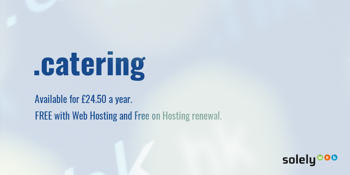 catering domain name extension