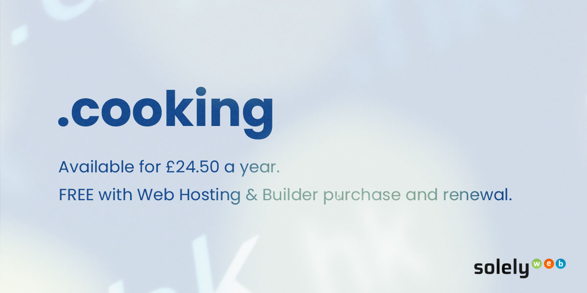 cooking domain name extension