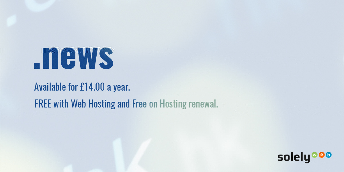 News Domain Name Free Register And Renewal With Web Hosting