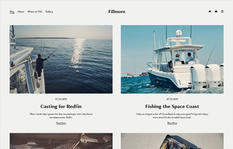 Squarespace Blogs & Podcasts Website Template