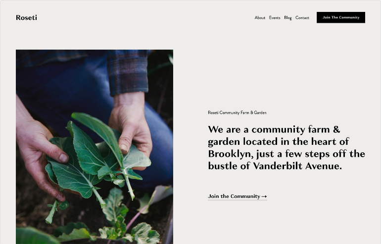 Squarespace Events Template