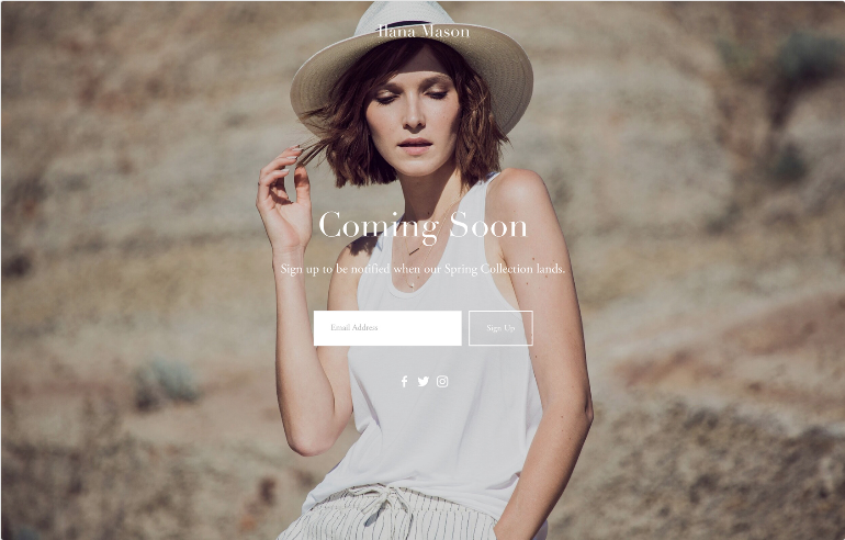 Squarespace Launch Pages Template