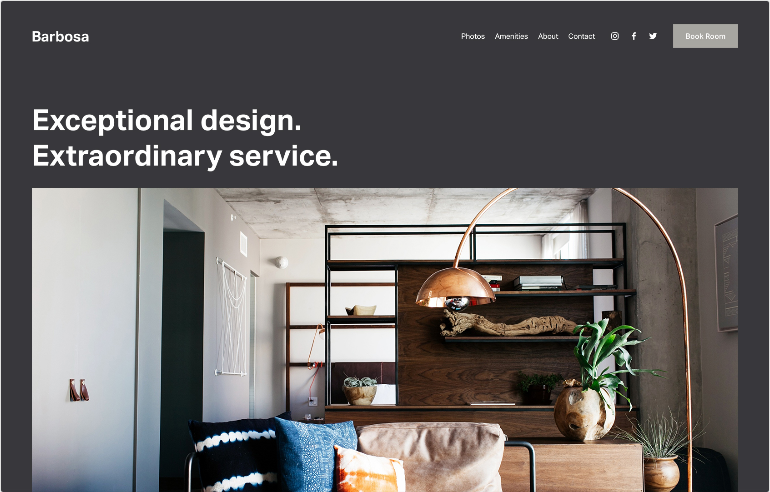 Squarespace Local Business Website Template
