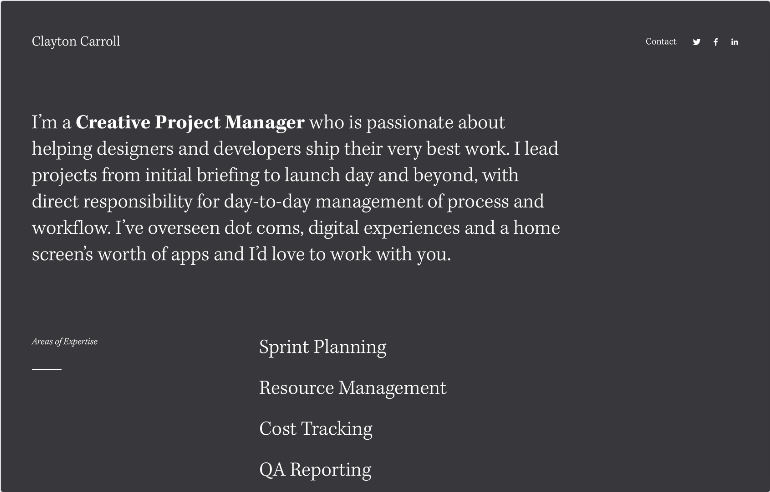 Squarespace Personal & CV Template
