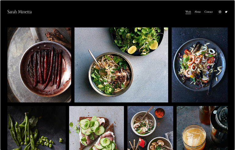 Squarespace Photography Website Template