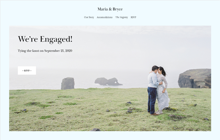 Squarespace Weddings Template